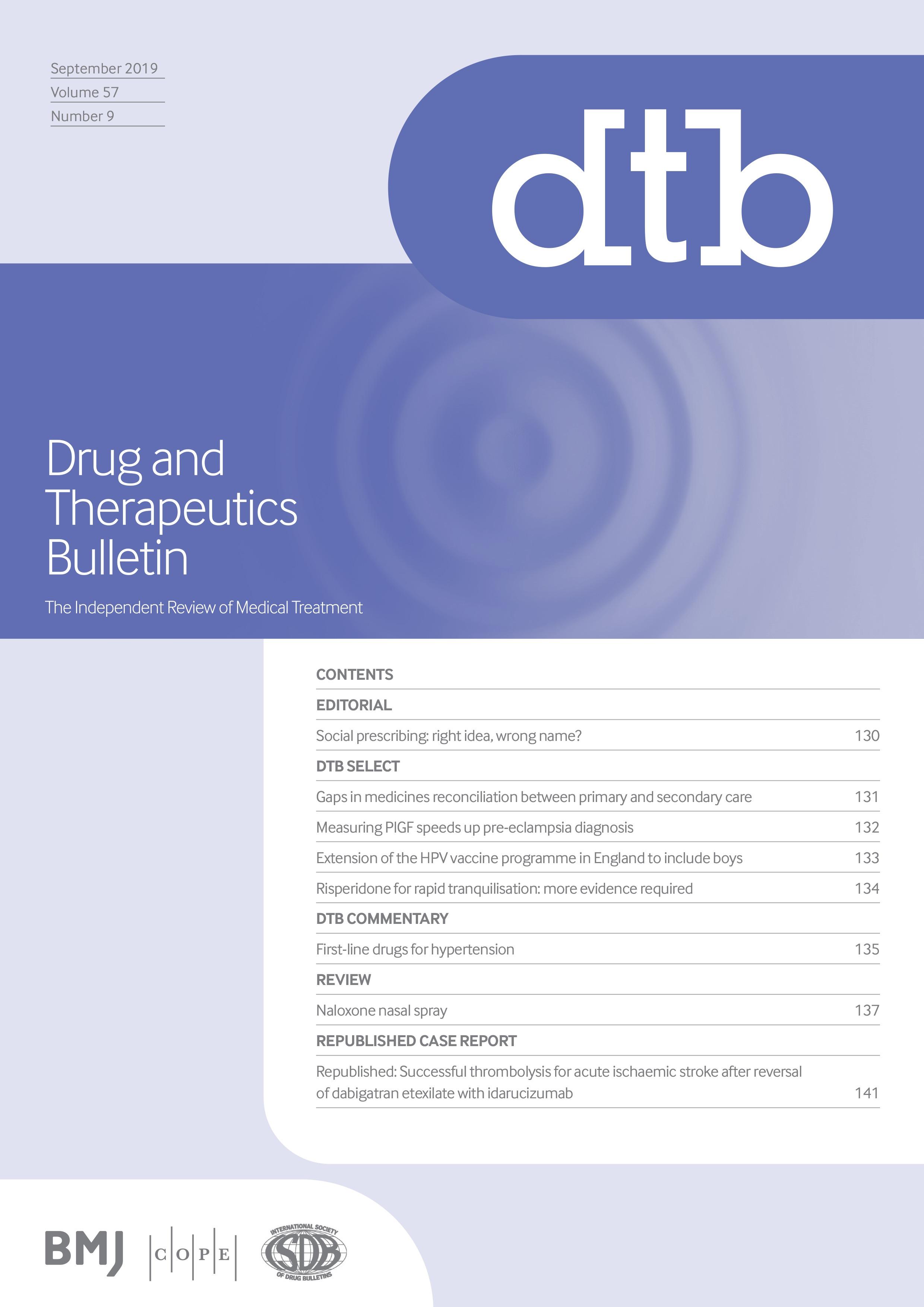 Naloxone nasal spray   Drug and Therapeutics Bulletin