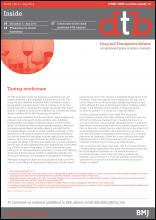 Drug and Therapeutics Bulletin: 52 (5)