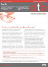 Drug and Therapeutics Bulletin: 53 (10)
