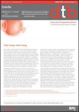 Drug and Therapeutics Bulletin: 53 (12)