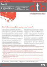 Drug and Therapeutics Bulletin: 53 (6)