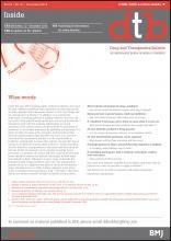 Drug and Therapeutics Bulletin: 54 (12)