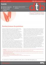 Drug and Therapeutics Bulletin: 54 (8)